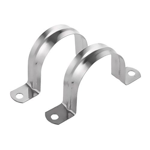 2x U Schelle Rohrklemme Rohschelle Rohrhalterung Rohrbefestigung Schlauchschelle - 40mm