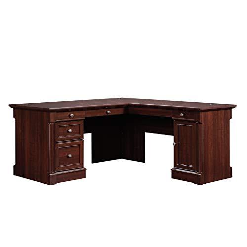 Sauder Palladia L-Shaped Desk, Select Cherry finish