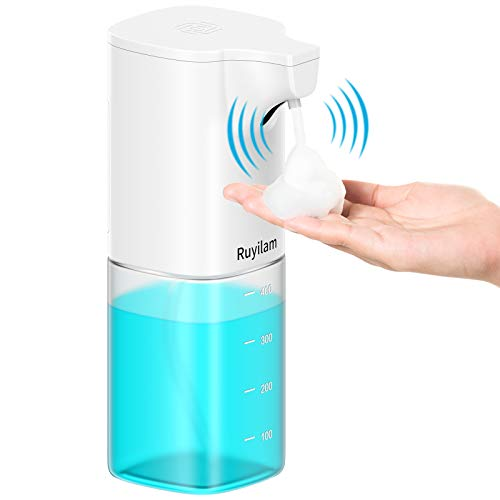 Ruyilam Seifenspender Automatisch, 400ml/14 OZ No-Touch Hand Seifenspender mit Sensor Infrarot, wasserdichter batteriebetriebener Seifenspender für Küche, Badezimmer, Büro, Hotel