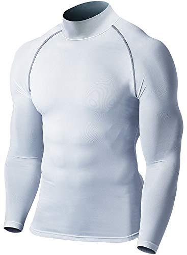 Defender Men's Thermal ColdGear Quick Dry Compression Mock Long Sleeve T Shirts