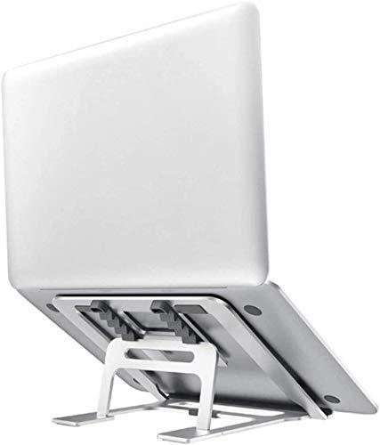Viixm Supporto PC Portatile 5 Angolazioni Regolabili Portatile Porta Notebook Pieghevole in Alluminio Ventilato Porta PC Supporto per MacBook, Huawei Matebook, dell, HP, Lenovo And 10-15.6  Laptops