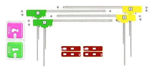 LIMITPOWER 4CH-NEW1 4チューナー4アンテナ フルセグフィルムアンテナ L型フィルムアンテナ左右2枚計4枚クリーナー付 3Mアンテナコード用補修用テープ(汎用)商標登録アマゾンブランド登録済み商品 PL保険加入済み 多数適合