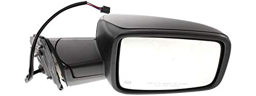 Kool Vue Mirror Compatible with 2009-2010 Dodge Ram 1500 / Ram 2500 and 2011-2012 Ram 1500/2500 Power, Manual Folding, Heated, Textured Black, Passenger Side