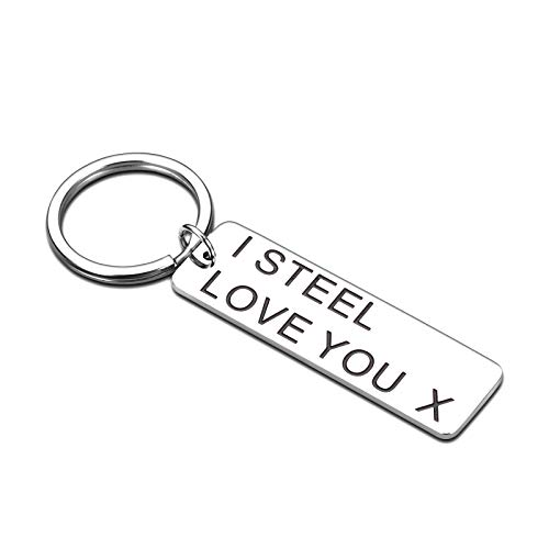 Funny 11 Year Anniversary Keychain Gifts for Wife from Husband Hubby I Love You Gifts for Women Men Couple Gifts for Boyfriend Girlfriend Wedding Christmas Birthday Valentine Gifts for Her Him Keyring