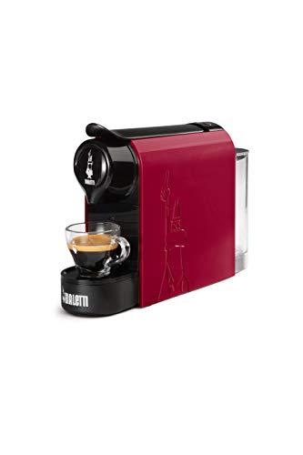 Bialetti Gioia, Macchina da Caffè Espresso per Capsule in Alluminio sistema Bialetti il Caffè d'Italia, Supercompatta, Rosso