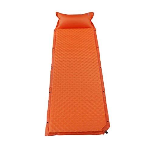 Isomatte, Luftmatratze Camping aufblasbare Schlafmatte, Outdoor Luftbett - Orange
