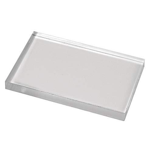 Rayher 2860600 Acrylstempelblock für Silikon- und Gummistempel, 5 x 8 cm x 0,8 cm, Acrylblock, Acrylstempel