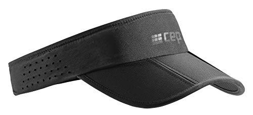 CEP – Running Visor   Leichte Faltbare Visor Cap mit Sonnenschutz und gebogenem Sonnenschild in schwarz in Unisex in one Size
