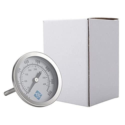 ZHOUCHENPQ Outils 100~800 □ 50~400 □ BBQ Smoker Pit Thermomètre Charbon Grill en Acier Inoxydable Jauge de température analogique Celsius Fahrenheit