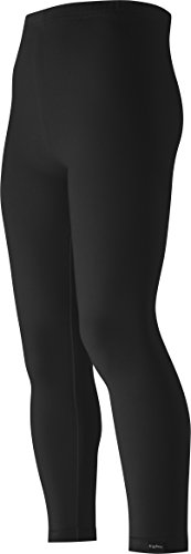 Playshoes Mädchen lang uni Legging, Schwarz (schwarz 20), (Herstellergröße: 116)