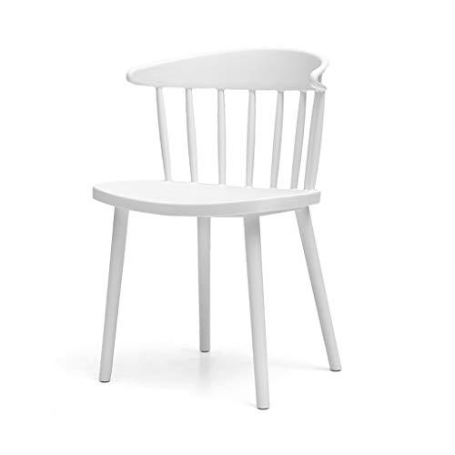 PLL Stoel Home eenvoudige stoel creatieve kunststof eetkamerstoel Lounge Chair Moderne achterkant bureaustoel winkel Outdoor stoel White