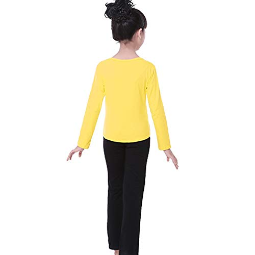Xiao Jian- Kinderdans Kleding Ronde hals Pak Meisjes Katoen Oefening Kleding Lange Mouw Zomer Latijnse Broek Heren Full Body Pak Kostuums dansen unifom (kleur : M, Maat : 160-170cm)