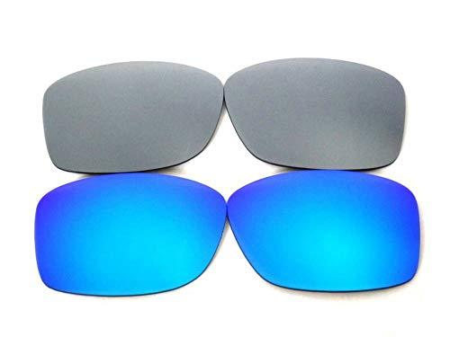 Lentes De Repuesto Para Oakley Jupiter Squared azul y titani