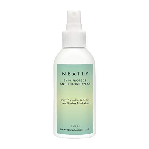 Anti-Scheuer Spray von NEATLY I 100 ml Spray gegen Hautirritationen und Ausschläge I Hilft bei aufgescheuerter Haut & stoppt Reibung an Oberschenkeln I Mit Vitamin C & Aloe Vera