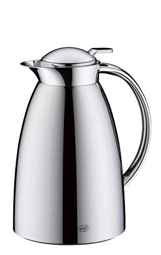 alfi Gusto, Thermoskanne Edelstahl poliert 0,65L, alfiDur Glaseinsatz, auslaufsicher, Isolierkanne hält 12 Stunden heiß, 3562.000.065 ideal als Kaffeekanne oder als Teekanne, Kanne für 5 Tassen
