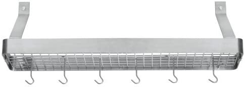 cuisinart crbs 36b chef s classic 36 inch rectangular wall mount bookshelf rack brushed stainless
