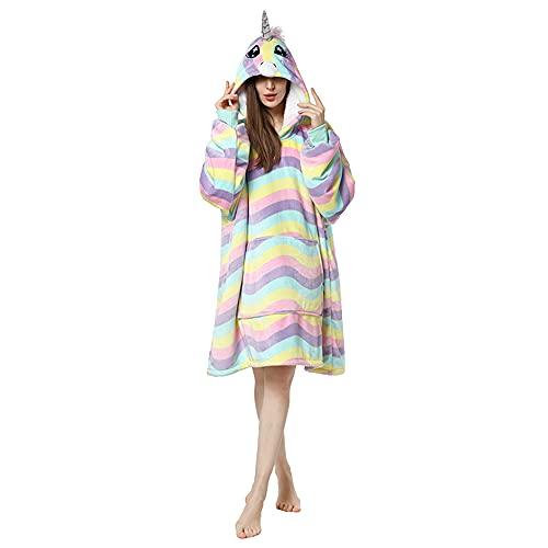 Sudadera con capucha ultra suave de forro polar sherpa cálida, cómoda, de gran tamaño, con bolsillo grande para adultos, mujeres, hombres, niñas y niños