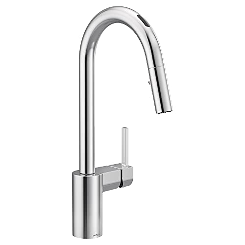 Moen 7565EVC Align U by Moen Smart Pulldown Kitchen Faucet with Voice Control and MotionSense, Chrome