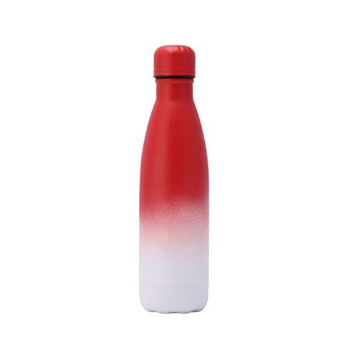 Botella de agua potable con aislamiento al vacío, botella de agua sin BPA, enfriar durante 24 horas, mantener el calor durante 12 horas, termo ideal para deportes, actividades al aire libre y fitness