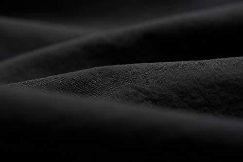 L1NK STUDIO Funda Almohada Cama de 90 cm (45X110cm) 100% algodón (Percal 200 Hilos) Negro