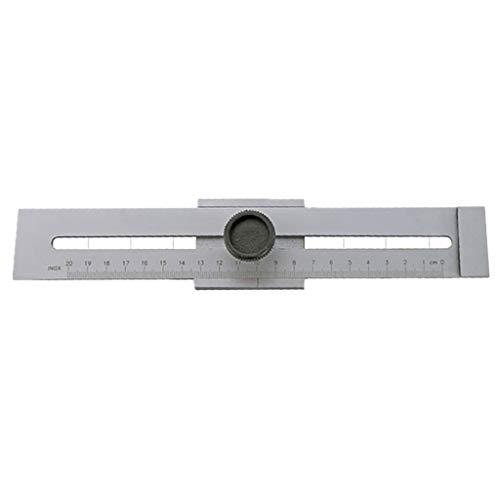 Almencla Streichmaß Anreiß-Messschieber Markiermesser Messwerkzeug mit gehärteter Anreißkante, 200/250/300 mm - 200mm