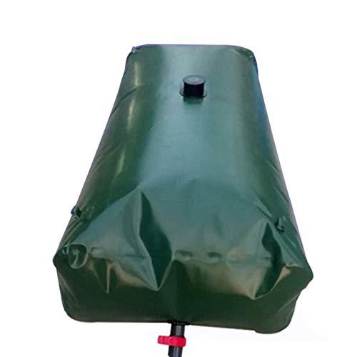 Conteneur de stockage d'eau pliable avec robinet pour jardin et ferme, Sac à eau doux en PVC épaissi portable extérieur, réservoir de stockage d'eau d'urgence pliable résistant à la sécheresse