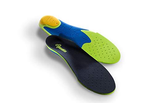 Pedis Shockless Schuheinlagen - klinisch getestete Stoßdämpfende Sport-Einlegesohlen für laufintensive Sportarten (Joggen, Wandern, Fussball) für Herren, 42 - 43,5, Mehrfarbig
