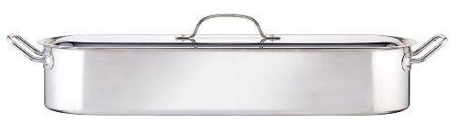 Kitchen Craft POACHER24 Clearview - Fuente de acero inoxidable con tapa para escalfar pescado (14 cm)
