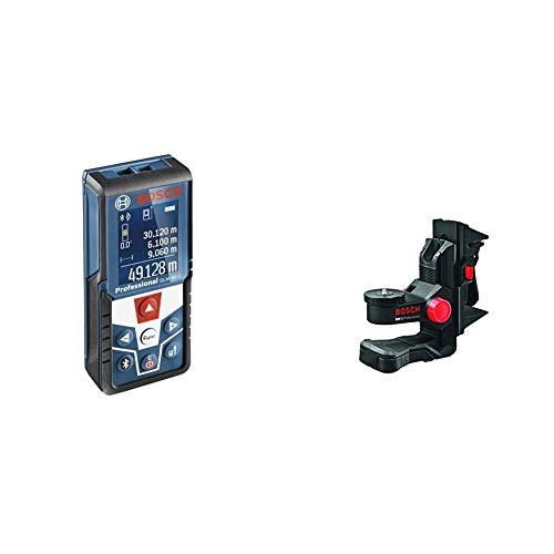 Bosch Professional GLM 50 C Distanziometro Laser, Campo di Misura 0.05-50 m Interfaccia Bluetooth pe + Bosch, BM1 + DECKENKL, Laser linea e Croce Laser Line, terminale BM1 soffitto