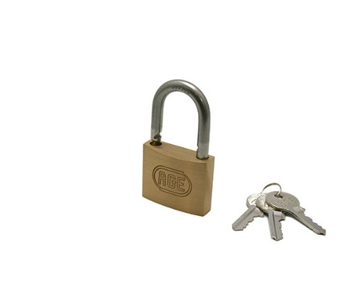ハイロジック ステンWロック南京錠50ミリ同一鍵 3本キー G030