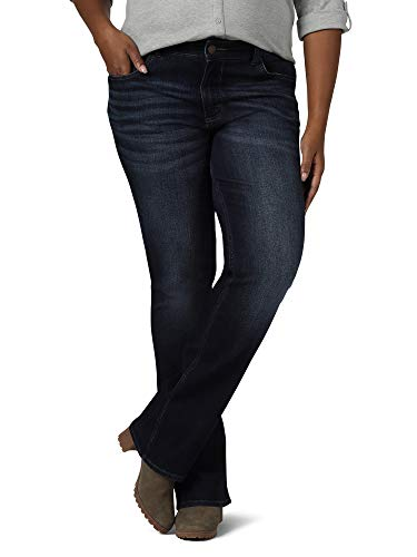 Riders by Lee Indigo Women's Plus Size Midrise Bootcut Jean, Nightfall, 18W