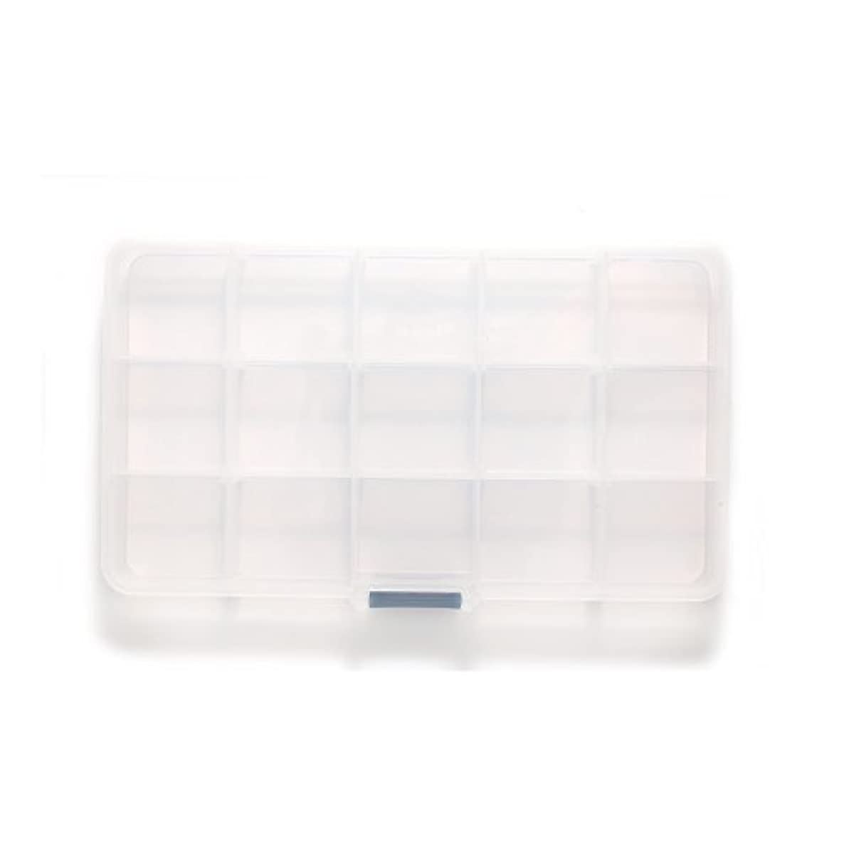 Shipwreck Beads Plastic Bead Storage Box with 15 Compartments, 4 by 7-Inch, Clear, 2-Pack