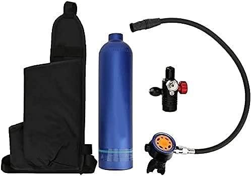 TYSJL Tanque de buceo para buceo, 1L Buceo Scuba vacío Azul Azul Tanque de aire Respiración de dispositivos submarinos Soporte de equipo de buceo 15-20 minutos, Mini tanque de aire Dispositivo de snor