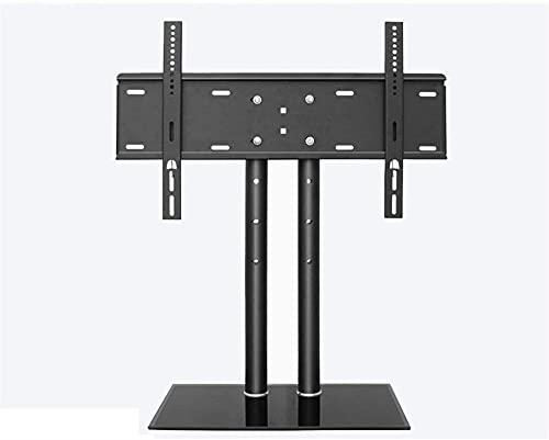 Lzpzz Soporte de TV universal para 40-55 pulgadas TV estructura de acero carga 45KG con vidrio templado negro VESA100x100 a 600x400MM