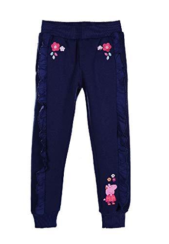 Peppa Wutz Pig Kinder Jogging-Hose Trainingshose Mädchen, Farbe:Dunkel-Blau, Größe:110
