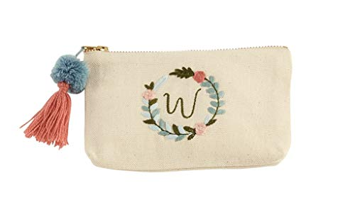 Mud Pie Initial Embroidered Pouches (W)