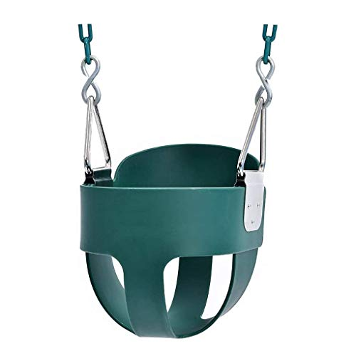 Q-L Baby Swing Opknoping Mand Tehuis For Kinderen Met Een Multi-functionele Entertainment Speelgoed Keten (Color : Green)
