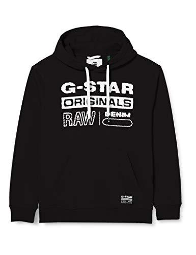 G-STAR RAW Herren Cardigan Sweater Originals Hooded, Dk Black A971-6484, X-Large