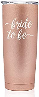 Rose Gold Bride To Be | Bridal Tumblers Bridal Party Gift Engaged Bachelorette Coffee stainless steel mug with lid Bridesmaid (Rose Gold 20oz Tumbler - bride to be)