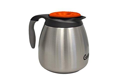 Wilbur Curtis Thermal Dispenser Seamless Pourpot, 64 Oz, Ss Exterior/Liner, Brew-Thru Decaf Lid - Commercial Airpot Pourpot Beverage Dispenser - CLXP6401S100D (Each)