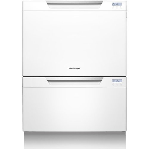 "Fisher Paykel DD24DCTW7 DishDrawer Tall 24"" White Semi-Integrated Dishwasher - Energy Star"