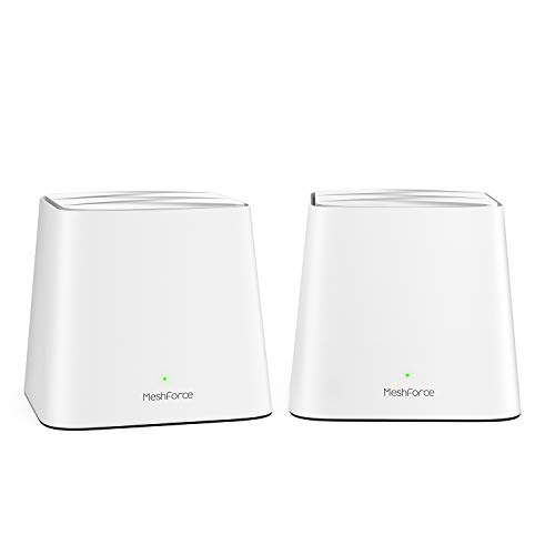 Meshforce M1 Whole Home Mesh WiFi System (2 Pack) – 2020 Upgraded WiFi Performance –Dual Band Wireless Mesh Router- Max WiFi Coverage 6+ Bedrooms (2 Pack)