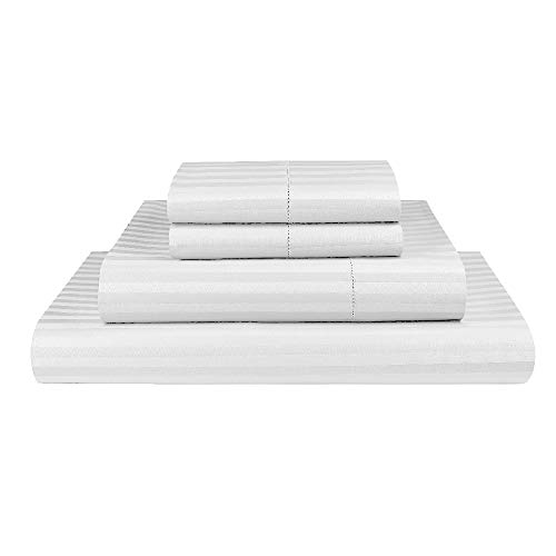 Luxor Linen 1000TC Ultra Soft Microfibre Sheet Set (1000TC-MIC-1CM-SS-Q-WHI), Queen