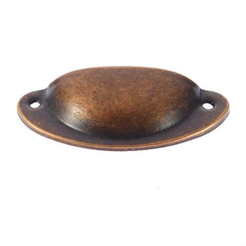 Vintage antieke zink kast handvat hardware lade Bin Cup Pull 3,15 ''