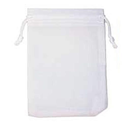(I) 17cm x 23cm アクセサリーギフト用巾着 (カラー)06.ホワイト ジュエリーポーチ 巾着袋 シンプル 収納袋 ベルベット ベロア調 プレゼント用 携帯用 ラッピング用 カラフル 大きい 大きめ 人気