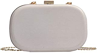 TOOGOO Ladies Evening Bag with Buckle Ladies Bags Day Clutch Wedding Tote Chain Mobile Phone Case Black