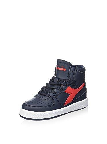 Diadora Sneaker Alta Mi Basket II Jr Blu/Rosso EU 29 (11 UK)