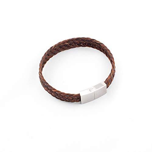 Crin De Cheval Rosshaar - Handgemachtes Frauenarmband - Collection Tennessee - 16 bis 21 cm - Flaches Geflecht.