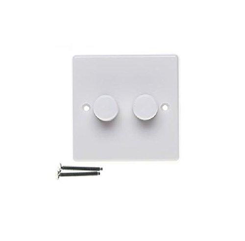 Varilight JQP252W V-Pro Dimmer, 2-Gang, LED, 1 oder 2 Wege, Weiß