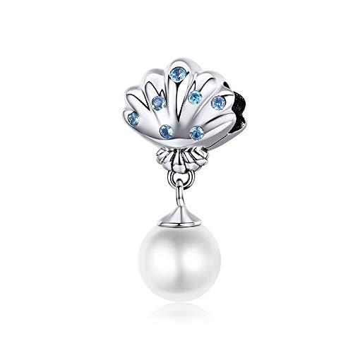 Parel hanger hoge kwaliteit schelp parel kristal kralen voor vrouwen sieraden maken ketting hangers vrouwelijke geschenken